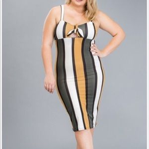 Color-block Midi Dress